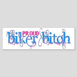 Proud Biker Bitch Sticker (Bumper)