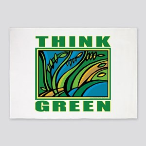Think Green 5'x7'Area Rug