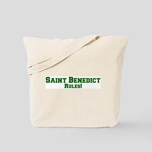 Saint Benedict Rules! Tote Bag