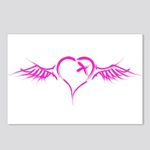 Emo Flying Heart Postcards (Package of 8)