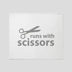 Runs With Scissors Throw Blanket