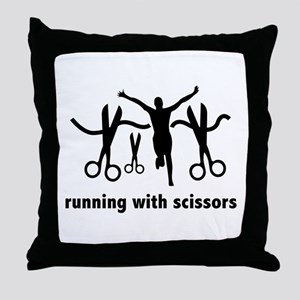 Running With Scissors Throw Pillow