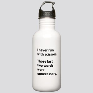 I Never Run With Scissors Stainless Water Bottle 1