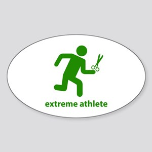 Extreme Athlete Sticker (Oval)