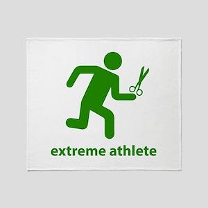 Extreme Athlete Throw Blanket