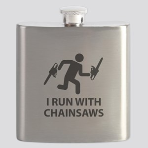 I Run With Chainsaws Flask