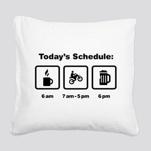 Dirt Biking Square Canvas Pillow