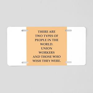union Aluminum License Plate
