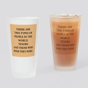 TENORS Drinking Glass