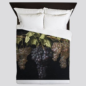 Painting of Grapes Queen Duvet