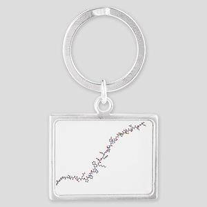 Calcitonin hormone molecule - Landscape Keychain