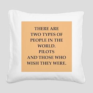 pilot Square Canvas Pillow
