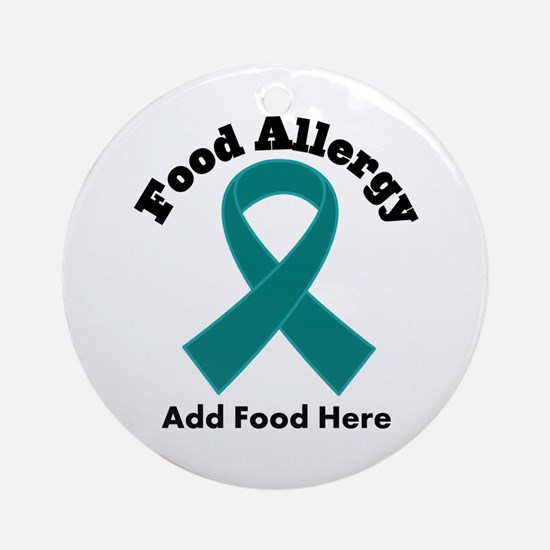 Personalized Food Allergy Ornament (Round)