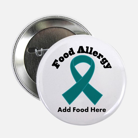 "Personalized Food Allergy 2.25"" Button"