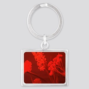 Flowers under red light - Landscape Keychain