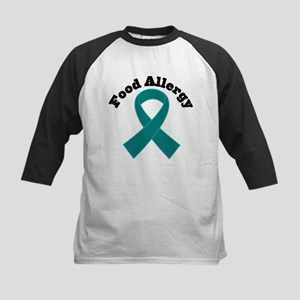 Food Allergy Teal Ribbon Kids Baseball Jersey