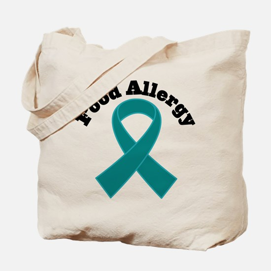 Food Allergy Teal Ribbon Tote Bag