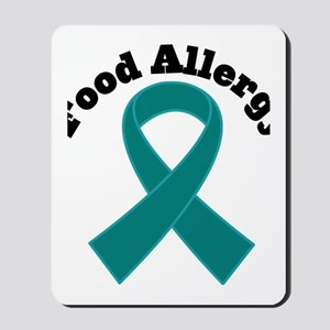 Food Allergy Teal Ribbon Mousepad