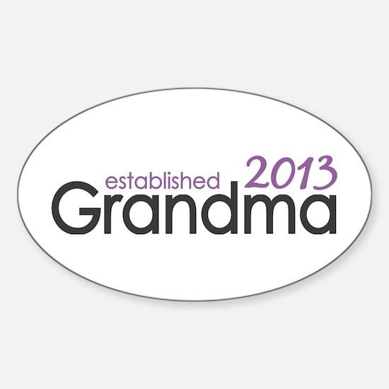 New Grandma Est 2013 Sticker (Oval)