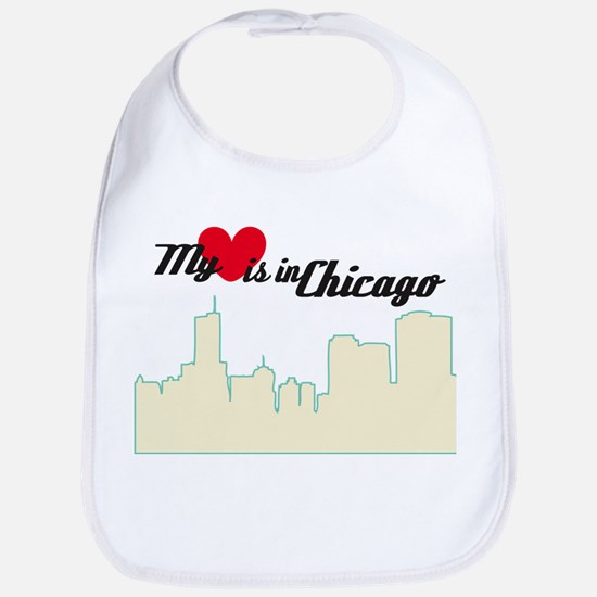 Heart in Chicago Bib