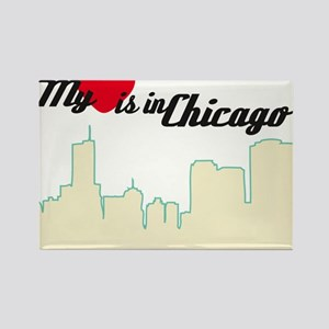 Heart in Chicago Rectangle Magnet