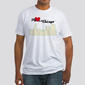 Heart in Chicago Fitted T-Shirt