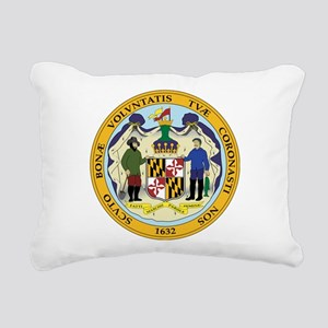 Great Seal of Maryland Rectangular Canvas Pillow