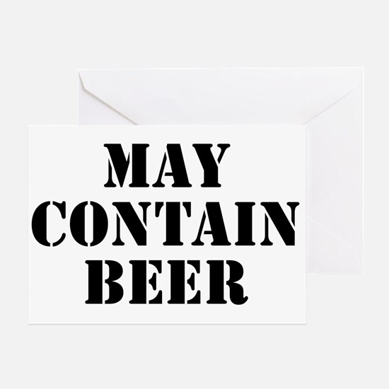May Contain Beer Greeting Card