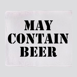 May Contain Beer Throw Blanket