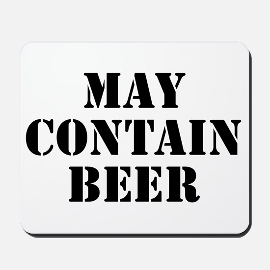 May Contain Beer Mousepad