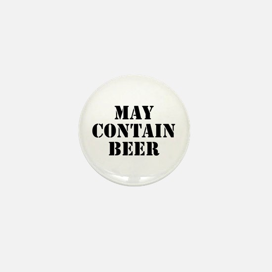 May Contain Beer Mini Button