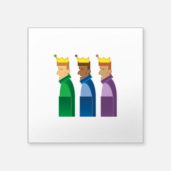 "Los Reyes Magos Square Sticker 3"" x 3"""