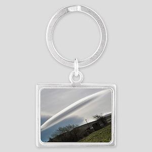 Flying saucer cloud - Landscape Keychain