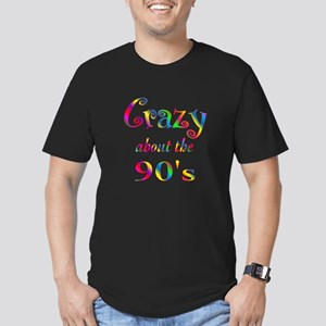 Crazy About The 90s Men's Fitted T-Shirt (dark)