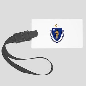 Flag of Massachusetts Large Luggage Tag