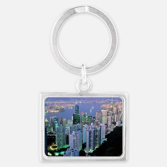 Hong Kong at dawn - Landscape Keychain