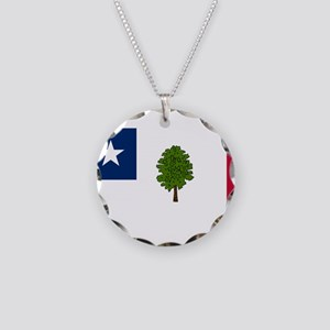 Flag of Mississippi 1861–1865 Necklace Circle Char