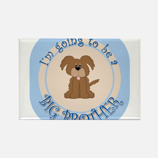 Puppy Going To Be Big Brother Rectangle Magnet