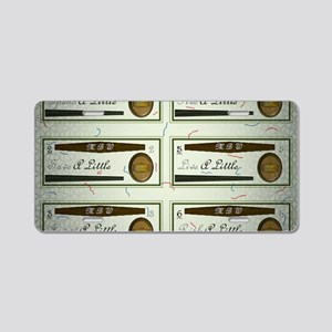 18th Quote; 6 Money Budgeti Aluminum License Plate