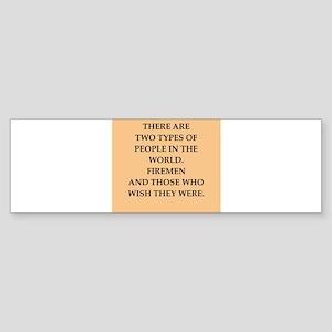 fireman Sticker (Bumper)