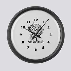 Get Hooked Large Wall Clock