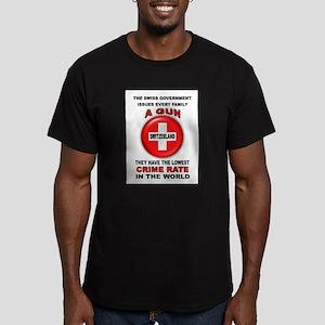 GUN FACTS Men's Fitted T-Shirt (dark)