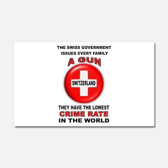 GUN FACTS Car Magnet 20 x 12
