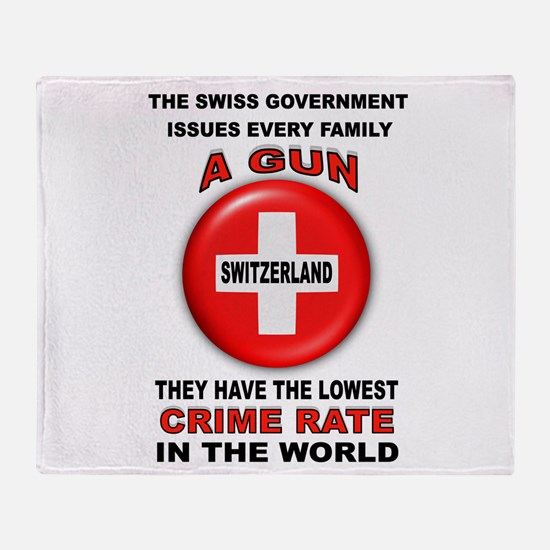 GUN FACTS Throw Blanket