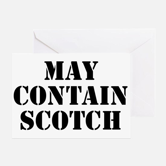 May Contain Scotch Greeting Card