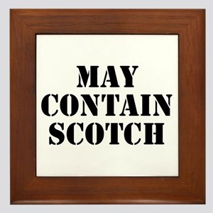 May Contain Scotch Framed Tile