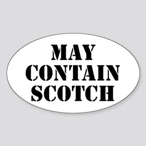 May Contain Scotch Sticker (Oval)