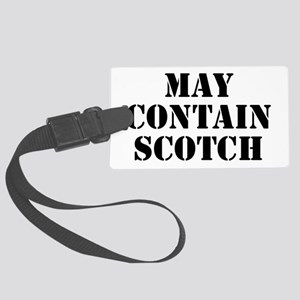 May Contain Scotch Large Luggage Tag
