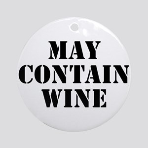 May Contain Wine Ornament (Round)