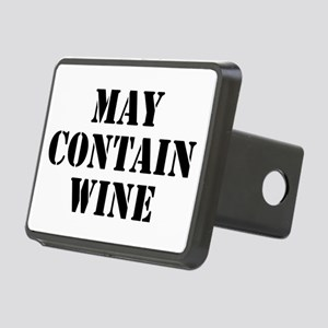 May Contain Wine Rectangular Hitch Cover
